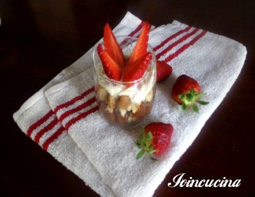 Crema di nocciole con mascarpone e fragole
