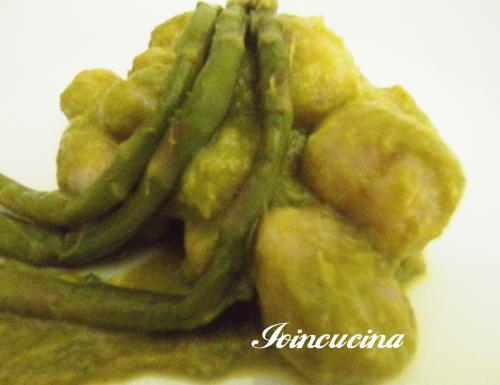 Gnocchi di farina di farro con asparagi