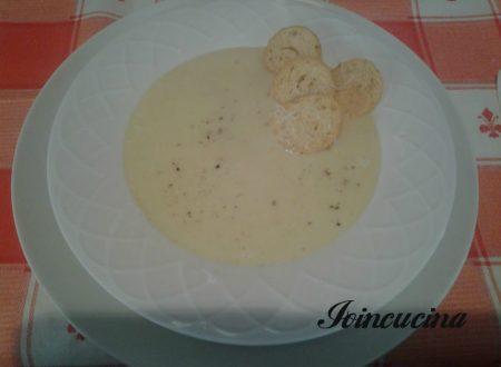 Vellutata di patate e porri con crostini