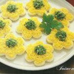 Canapé mimosa alla maionese