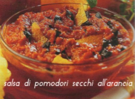 Salsa di pomodori secchi e arance