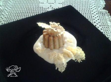 Sformatino di fave con fonduta di pecorino