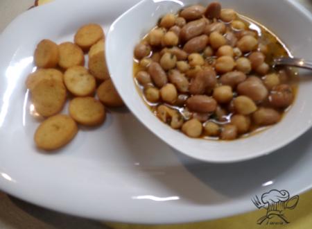 Zuppa di ceci e fagioli al rosmarino