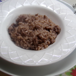 Risotto lambrusco e salsiccia
