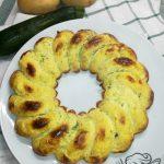 Sformato patate e zucchine con caprino