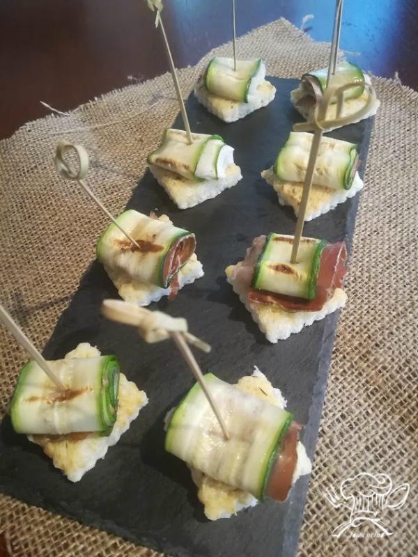 tartine zucchine e speck