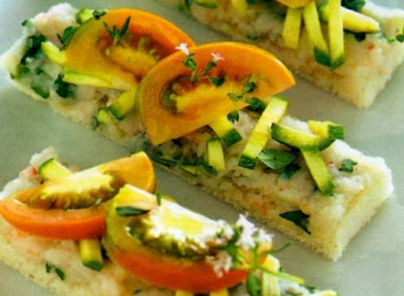 Tartine gamberetti e zucchine