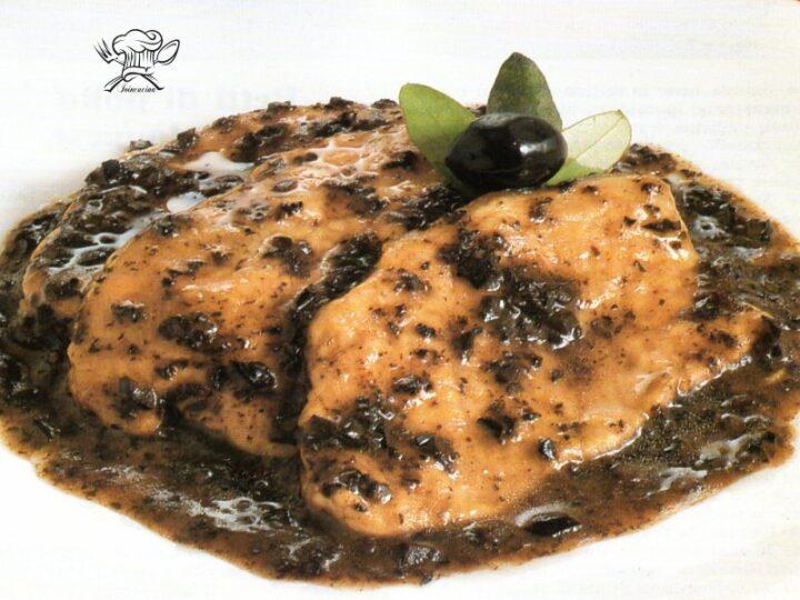 scaloppine alle olive nere