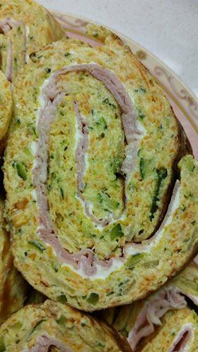 Rotolo di frittata con Zucchine e Carote....