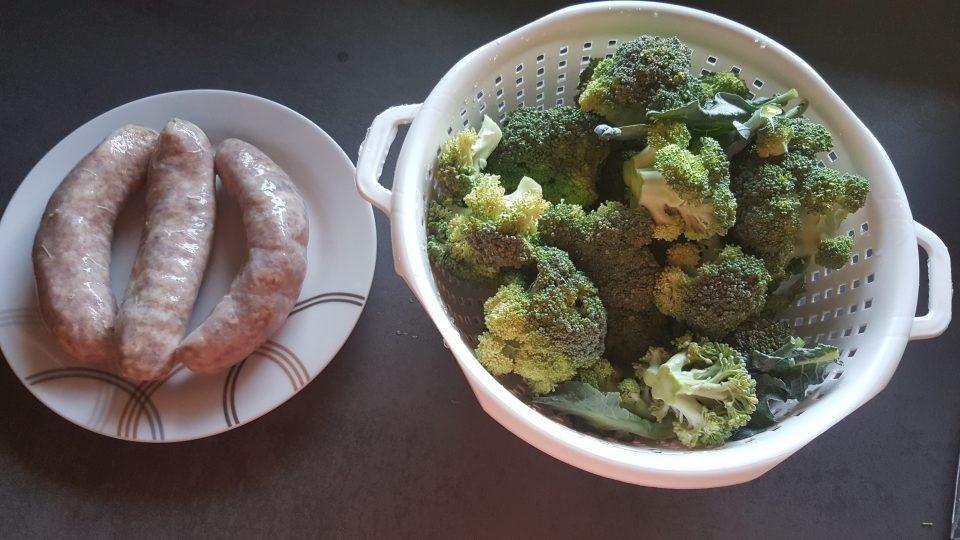 Fusilli con Broccoli salsiccia e panna