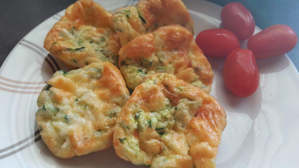 Frittatine con zucchine e mozzarella