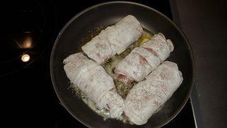 Involtini di carne con prosciutto e formaggio