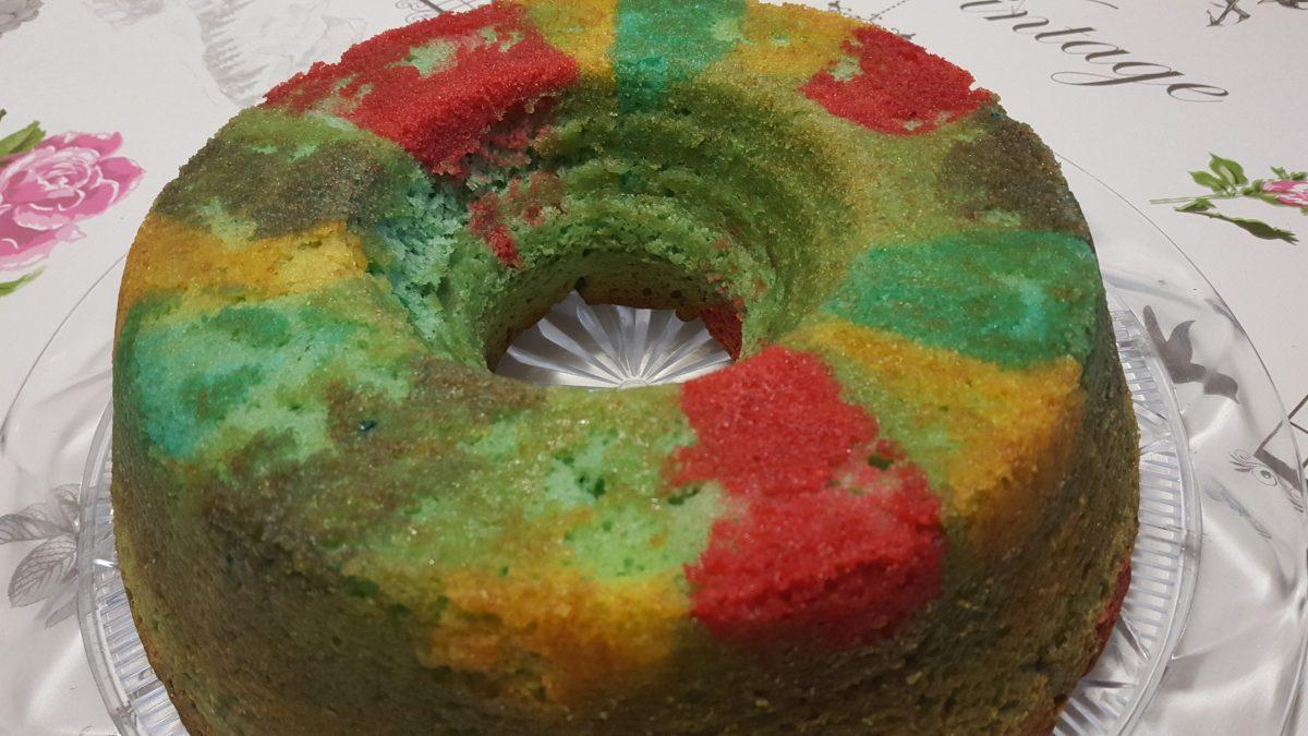 Ciambella colorata allegra