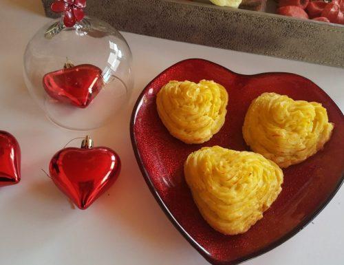 Cuori di patate duchessa ripieni