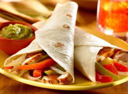 Fajitas di pollo: rapide e facilissime