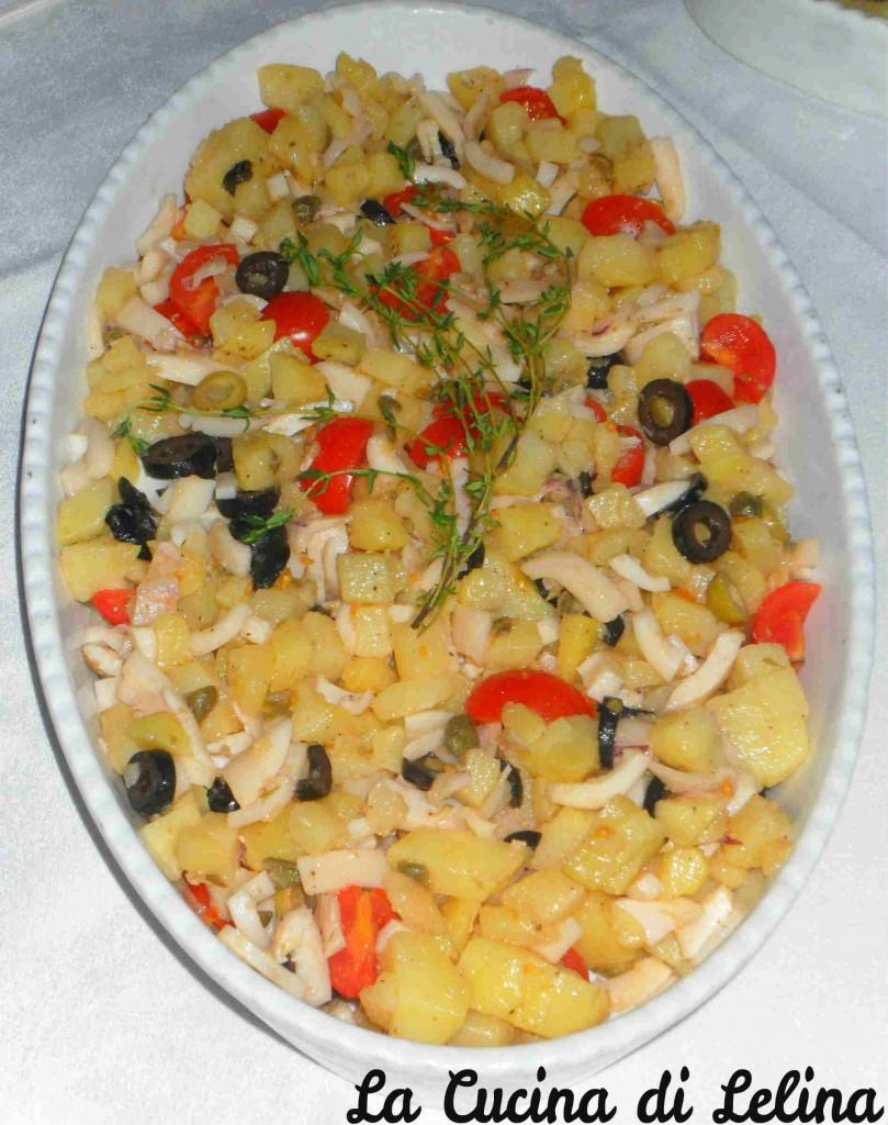 Insalatina patate olive e calamari ricetta fresca | La Cucina di Lelina