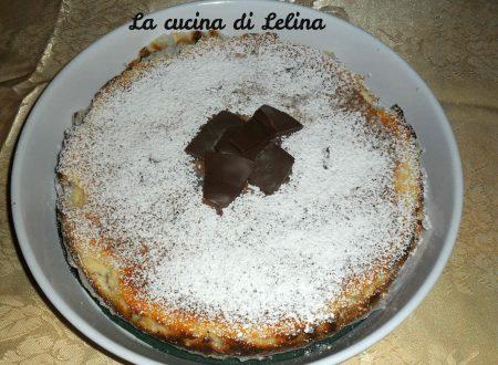 Cheesecake con pezzi di cioccolato