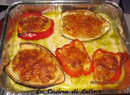 Melanzane e peperoni ripieni