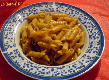 Penne con pesto alla siciliana ricetta primo