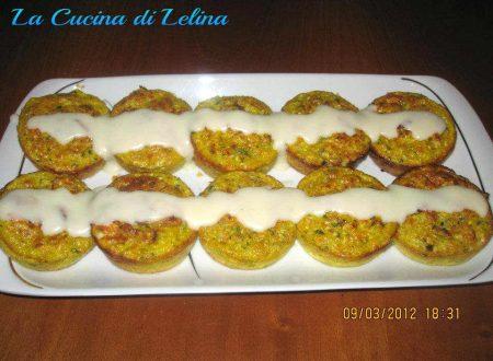 Sformatini alle verdure con fonduta ricetta delicata