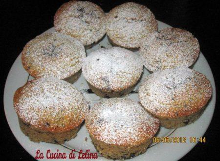 Muffin con gocce di cioccolato e carote