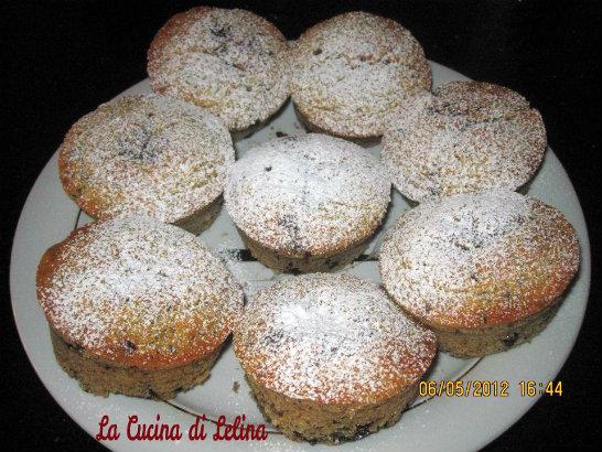 muffin gocce di cioccolato e carote