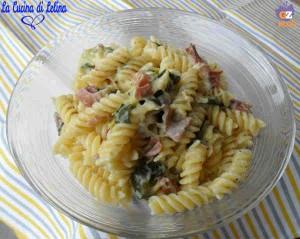 Fusilli zucchine e speck ricetta delicata   La Cucina di Lelina