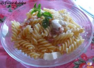 Fusilli con pancetta e mozzarella ricetta sfiziosa |La Cucina di Lelina