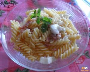 Fusilli con pancetta e mozzarella ricetta sfiziosa  La Cucina di Lelina