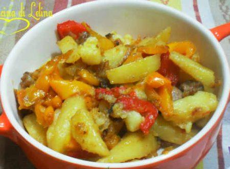 Patate e peperoni ricetta contorno
