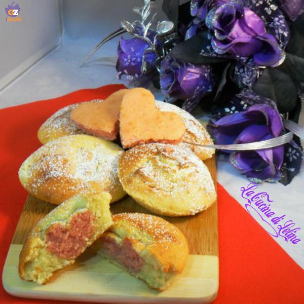 Muffin con cuore ricetta San Valentino | La Cucina di Lelina