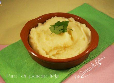 Purè di patate light ricetta leggera