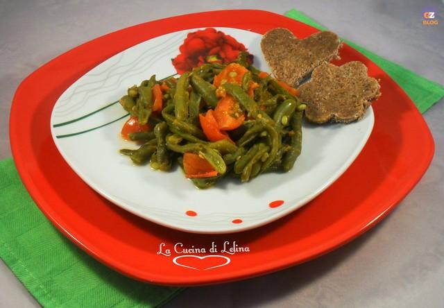 Insalata fagiolini e pomodorini ricetta contorno | La Cucina di Lelina