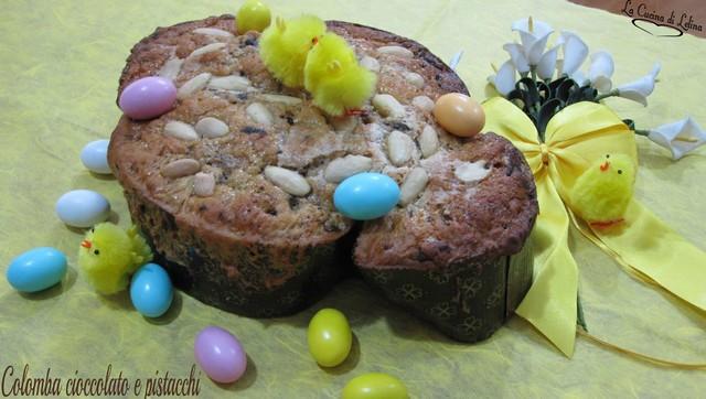 Colomba cioccolato e pistacchi dolce di pasqua | La Cucina di Lelina