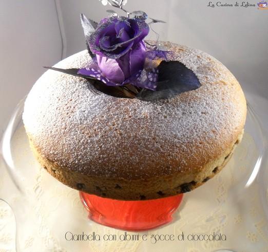 Ciambella con albumi e gocce di cioccolata ricetta golosa   La Cucina di Lelina