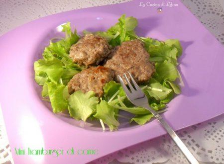 Mini hamburger di carne ricetta secondo