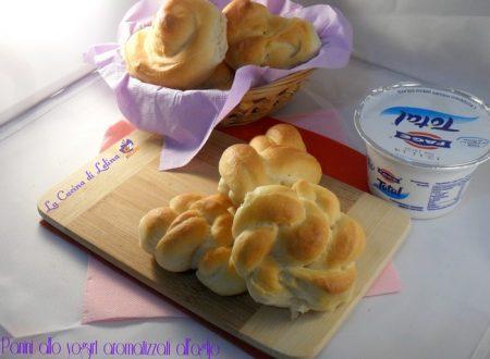 Panini allo yogurt aromatizzati all'aglio ricetta bimby