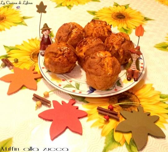 Muffin alla zucca ricetta salata|La Cucina di Lelina