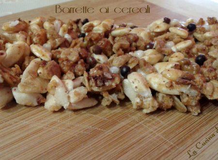 Barrette ai cereali ricetta leggera