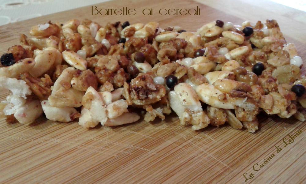 Barrette ai cereali ricetta leggera|La Cucina di Lelina