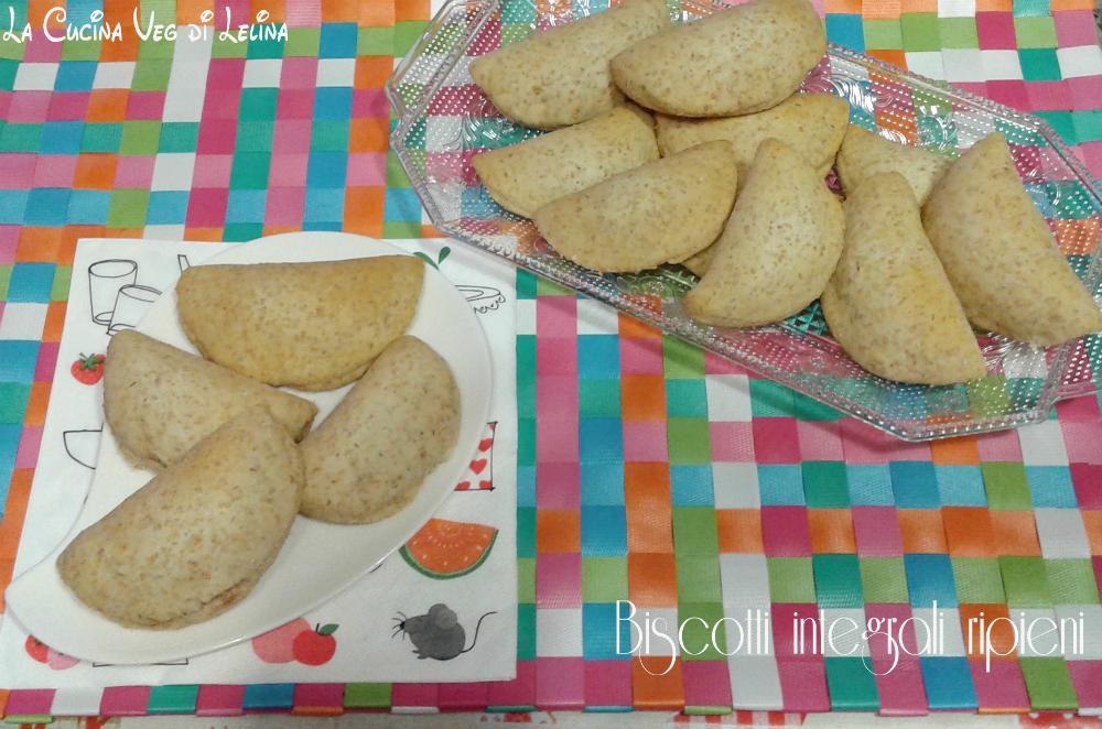 Biscotti integrali ripieni senza zucchero e burro