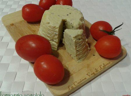 Formaggio con farina di piselli ricetta veg