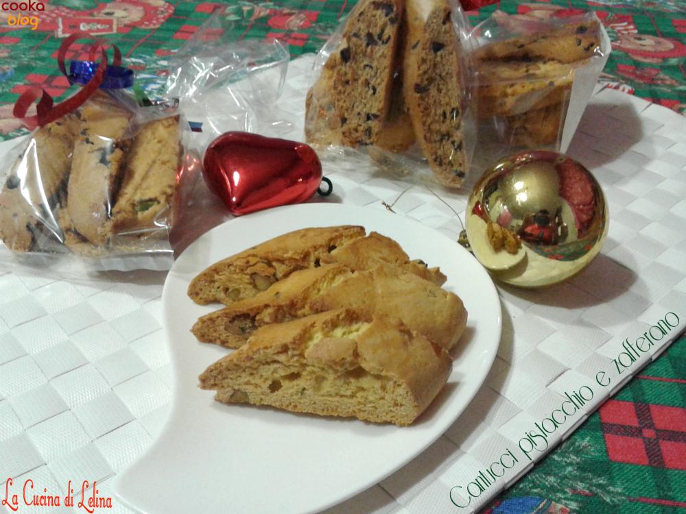 Cantucci allo zafferano e pistacchi|La Cucina di Lelina