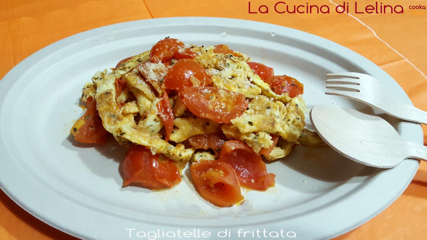 Tagliatelle di frittata al basilico|La Cucina di Lelina