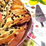 Torta angelica yogurt e gocce di cioccolato