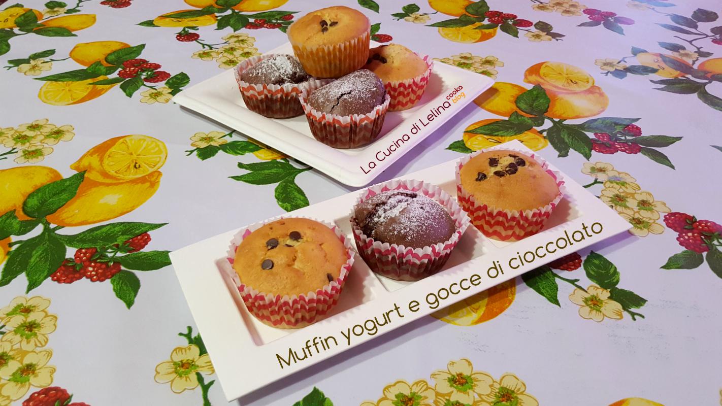 Muffin yogurt e gocce di cioccolato|La Cucina di Lelina