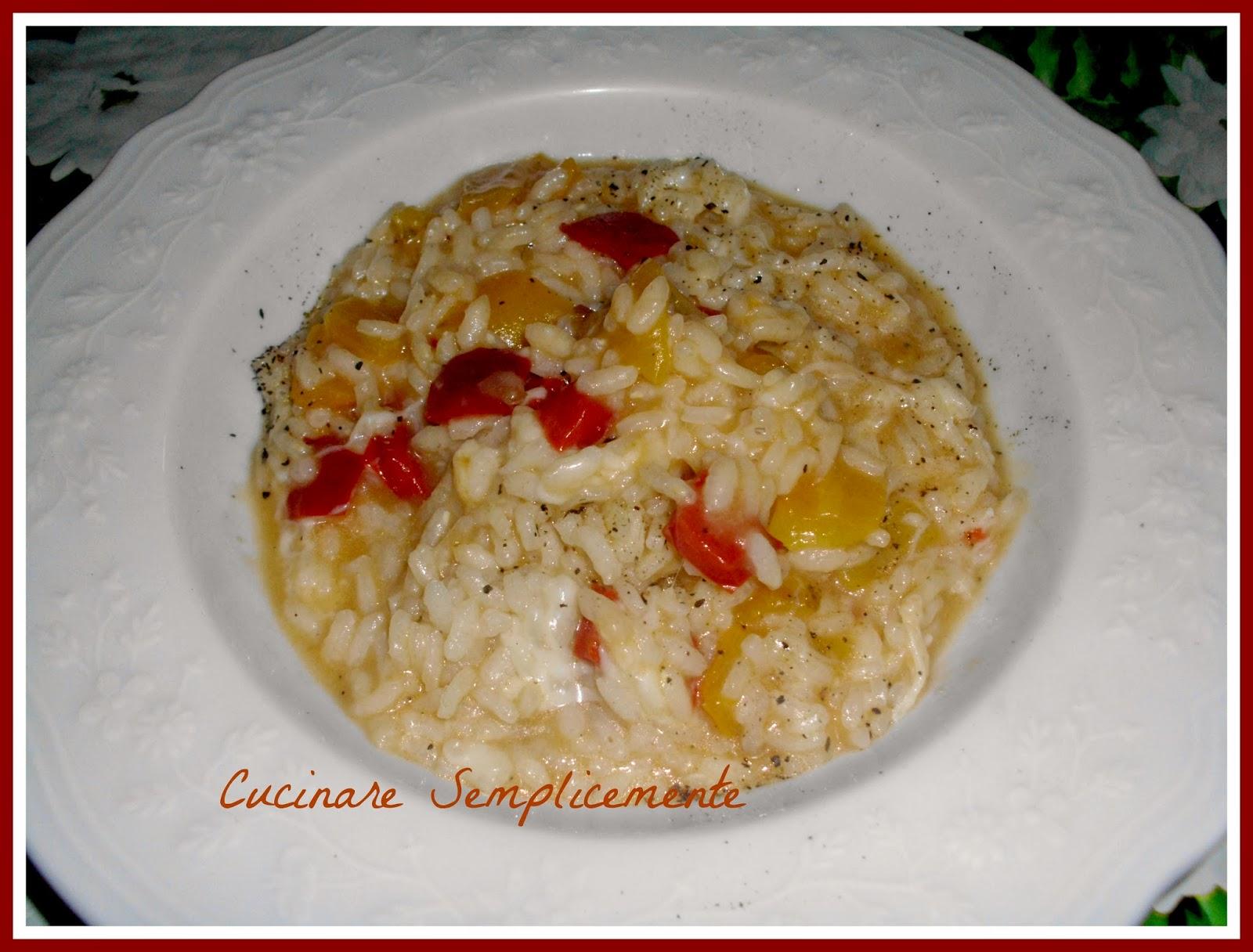 Risotto ai peperoni cucinare semplicemente for Cucinare risotto