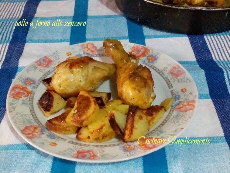 Pollo a forno allo zenzero