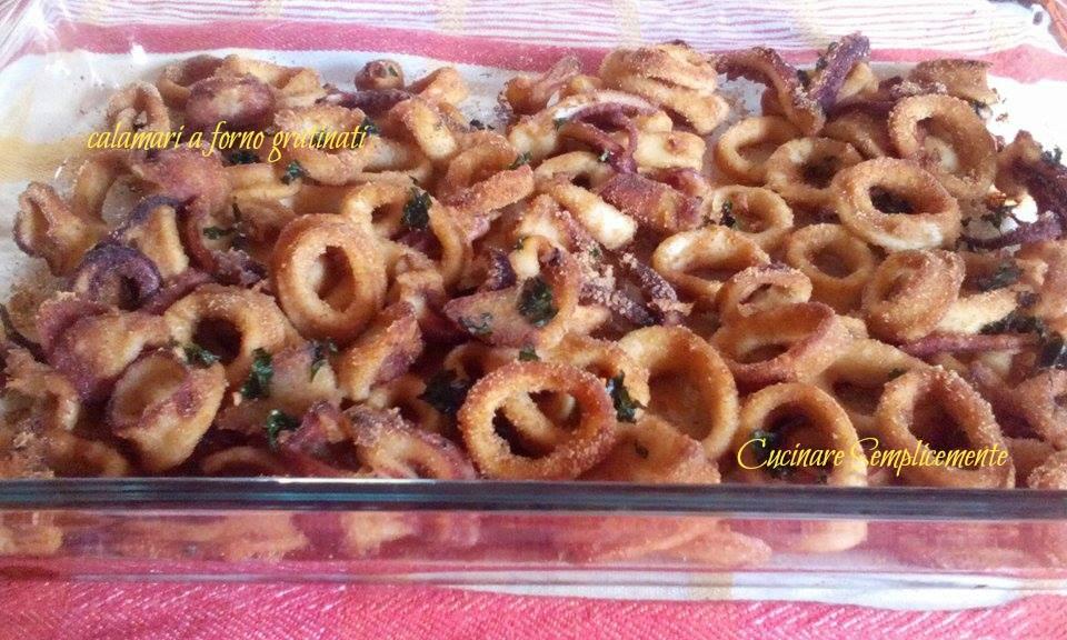 Calamari al forno gratinati - cucinare semplicemente