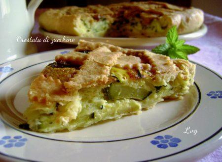 Crostata salata con zucchine e grana